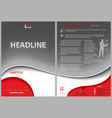 leaflet template with gray wavy background vector image