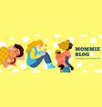motherhood hand drawn vector image
