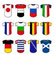 national soccer uniforms vector image vector image