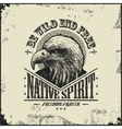 native spirit poster with eagle vector image