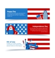 New York USA banner set vector image