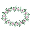 Oval frame from flowers vector image vector image