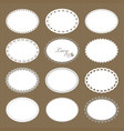 oval lacy doilies big set on cardboard background vector image vector image