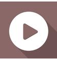 Play button web icon flat design vector image vector image