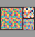 puzzle colorful pattern vector image