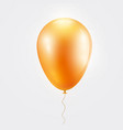 realistic orange baloon on isolated on white vector image vector image
