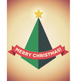Retro styled geometric christmas tree vector image