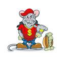 rich rat showing an abundance wealth vector image