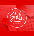 sale design with gradient shapes vector image vector image