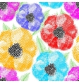 Seamless colorful poppy flowers wallpaper pattern vector image vector image