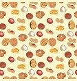 seamless pattern with almonds peanuts hazelnuts vector image vector image