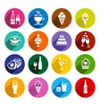 Set flat food icons vector image vector image
