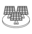 solar panel silhouette draw vector image