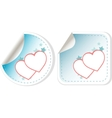 sticker love hearts vector image vector image