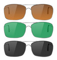 sunglasses with colored lenses vector image