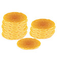 tasty fluffy pancakes vector image