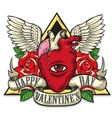 tattoo art on the theme of Valentines Day vector image vector image