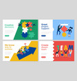 teamwork banners set vector image vector image