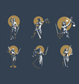 the goddess of justice themis set vector image vector image
