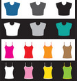 top and shirt set vector image vector image