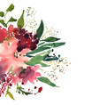 watercolor flowers in frame hand drawn for print vector image