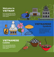 welcome to vietnam promotional banners with vector image vector image