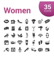 women icons vector image vector image