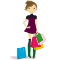 women with some shopping bags vector image