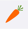 yellow carrot ripe icon modern simple flat vegeta vector image