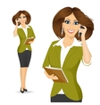 businesswoman talking on the phone vector image