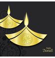 design of burning diwali diya vector image