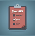 Clipboard with checklist vector image