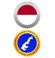 button as a symbol MONACO vector image