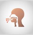 a cough icon design vector image