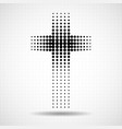abstract halftone cross christian symbol vector image vector image
