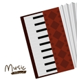 accordion instrument isolated icon design vector image vector image