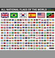 all national flags of the world shiny convex vector image