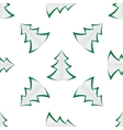 background of green christmas trees vector image