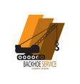 backhoe service logo vector image