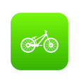 bike icon digital green vector image vector image