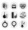 black measurement icons vector image