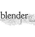 blender tips vector image vector image