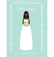 Bridal shower card with smiling happy bride vector image vector image