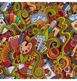 cartoon art and craft seamless pattern