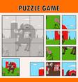cartoon of educational jigsaw puzzle vector image