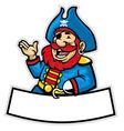 cartoon pirate captain vector image vector image