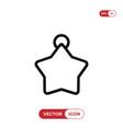 christmas star ball icon vector image vector image