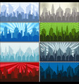 city silhouettes collection vector image vector image