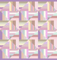 colorful geometric striped square pattern vector image vector image
