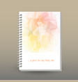 cover of diary soft pastel pink peach yellow color vector image vector image